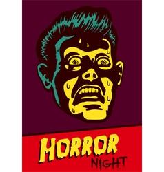 Halloween party horror movie night flyer design vector