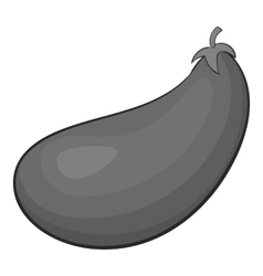 Eggplant fruit icon gray monochrome style vector