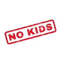 No kids rubber stamp vector