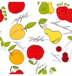 Fruit pattern vector