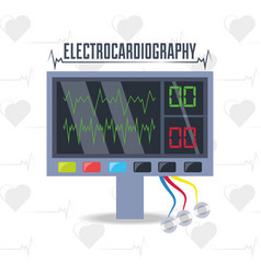 Electrocardiograpy machine to know cardiac rhythm vector
