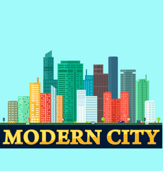 Modern colorful city background vector