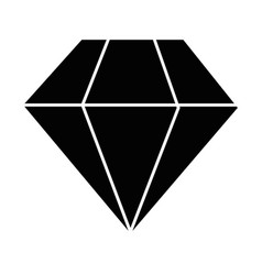 diamond icon image vector image