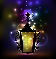 Arabic forging lantern for ramadan kareem vector