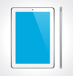 Touchscreen tablet concept vector