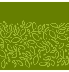 Seamless nature pattern with stylized leaves vector