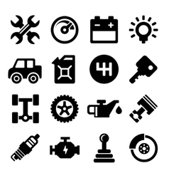 Auto repair service icons vector
