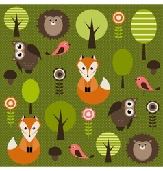 Forest with animals vector