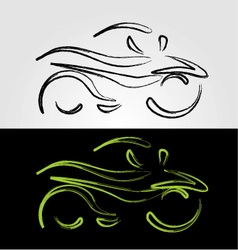 Artistic graphic of motorbike vector