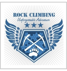 Rock climbing and mountain climbing vector