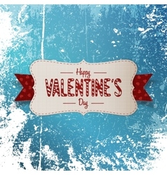 Big valentines day textile banner with text vector
