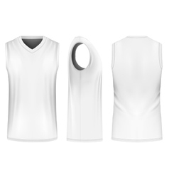 Basketball tank top vector