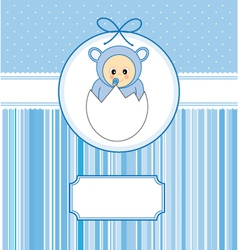 Baby within an egg vector