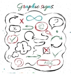 Graphic signs vector image