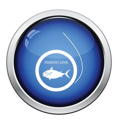 Icon of fishing line vector