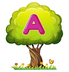 A tree with a letter A vector image vector image