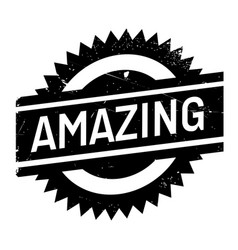 amazing rubber stamp vector image