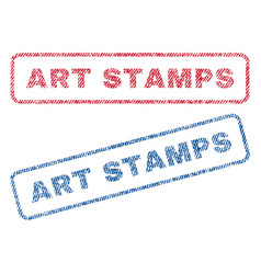 Art stamps textile stamps vector