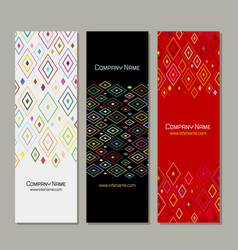 Banners set abstract geometric design vector