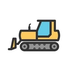 Bulldozer vector