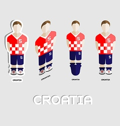 Croatia soccer team sportswear template vector