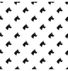 Dog head pattern simple style vector
