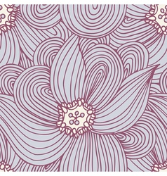 Doodle flower seamless pattern floral textile vector