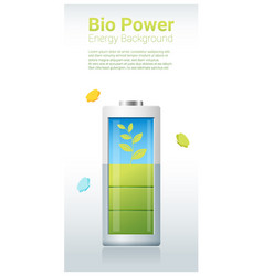 Green energy concept background with bio energy vector