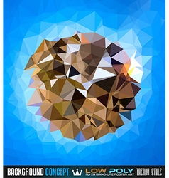 Low Poly trangular trendy Art background for your vector image