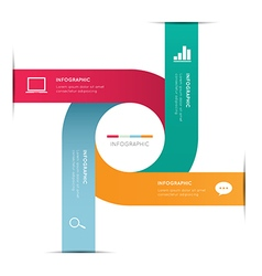 Modern infographic for business concept vector image
