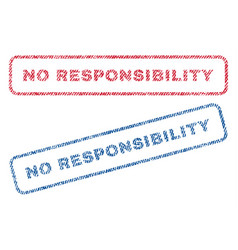 No responsibility textile stamps vector