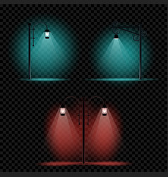 pillar lamp light set vector image vector image