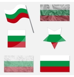 Set with Flags of Bulgarian vector image vector image