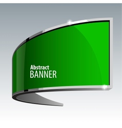Shiny gloss green banner eps 10 vector image