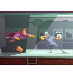 Superhero Retro Cartoon vector image vector image