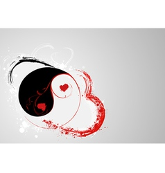 svalentines yin e yang vector image