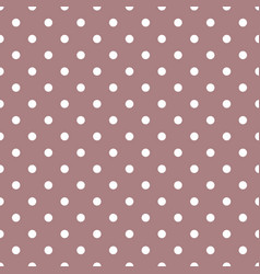 tile pattern with white polka dots on pastel vector image