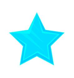 Turquoise cartoon glossy star vector