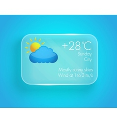 Weather widget vector image
