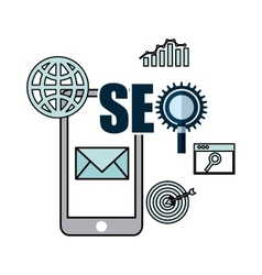 Seo technology design vector