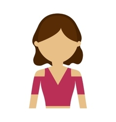 Character woman hairstyle trendy vector