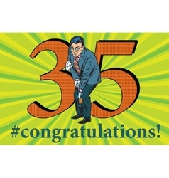 Congratulations 35 anniversary event celebration vector