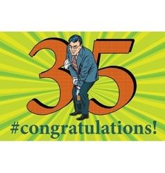 Congratulations 35 anniversary event celebration vector image