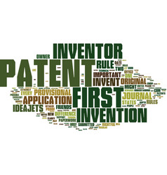 First to invent vs first to patent text vector