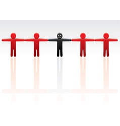 standing out from the crowd vector image