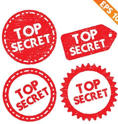 Stamp sticker top secret tag collection - - vector