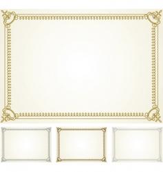 certificate frame set vector image