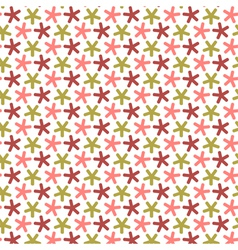 Repeating stars with round angles seamless pattern vector