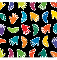 feet and hands vector image