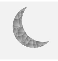 Abstract gray moon on a white background vector